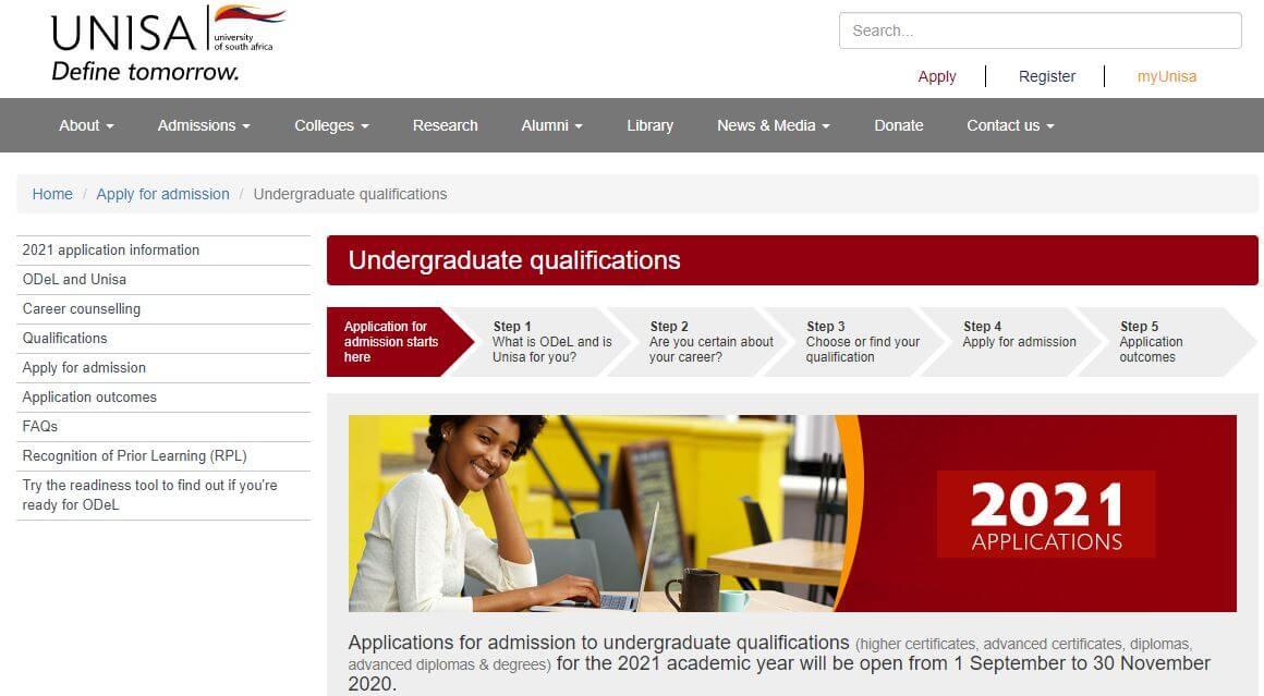 How to Use UNISA Application Tool