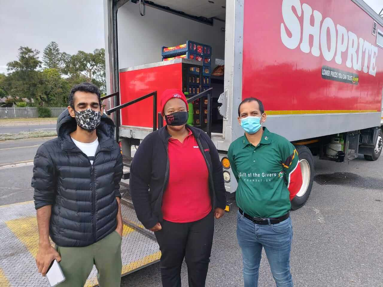The Shoprite Mobile Soup Kitchen ready to serve UCT students housed at Mupine College in Pinelands