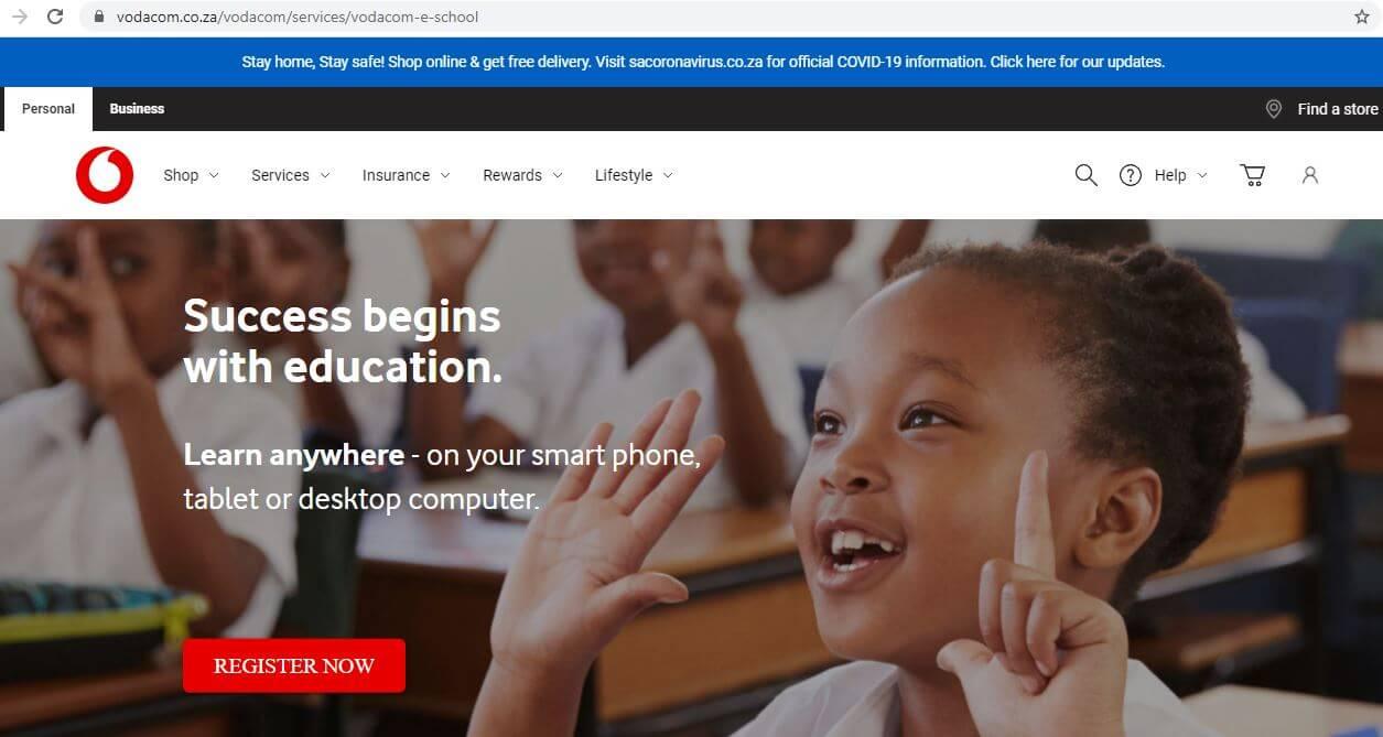 How to Register on Vodacom e-School