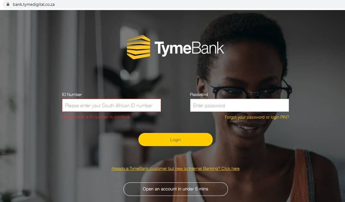 TymeBank Login South Africa