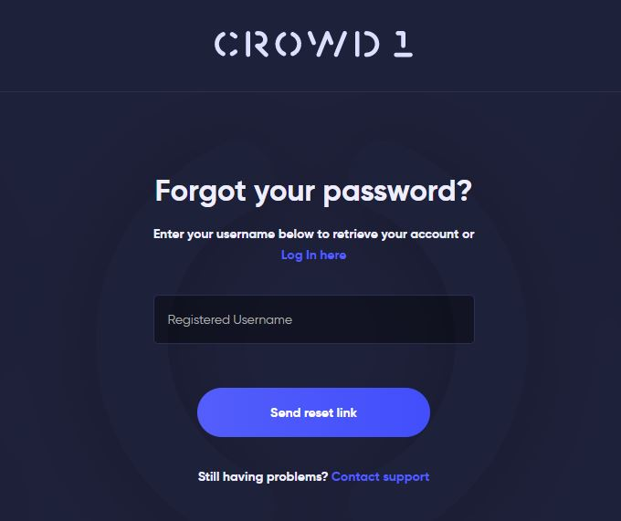 Crowd 1 Login Password