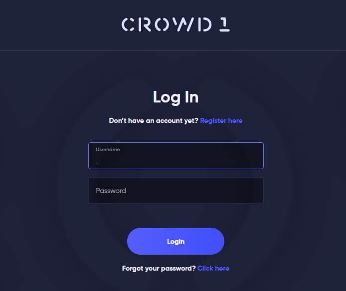 Crowd1 com log in