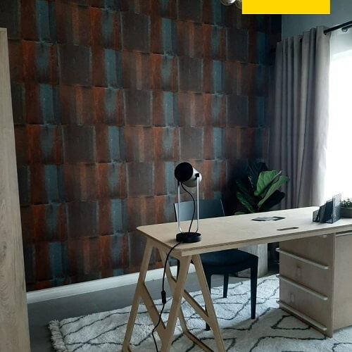 DIY Wallpaper Installation Image