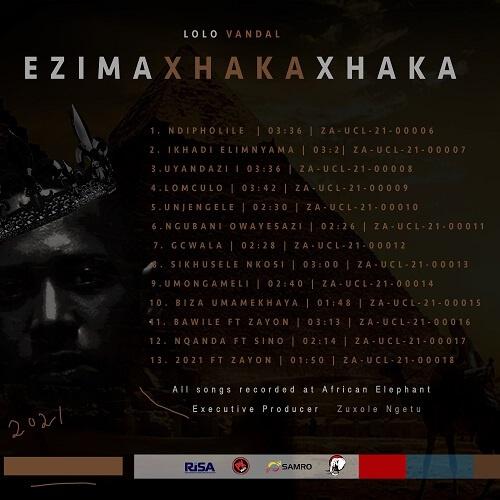 EZIMAXHAKAXHAKA TRACKLIST