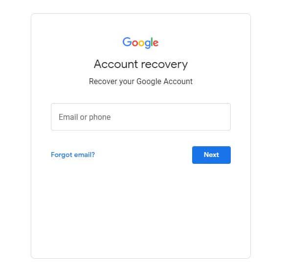 Gmail Login Account Password Reset