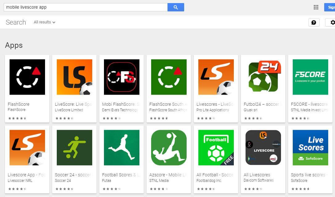 Mobile Livescore App Download