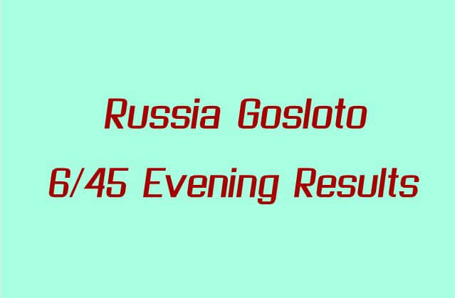 Russia Gosloto Evening Results For Today