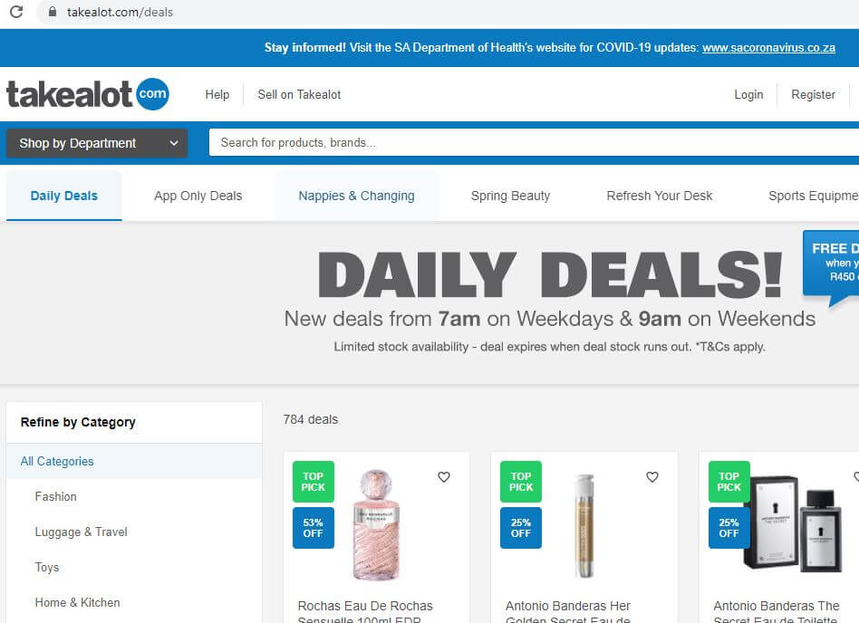 Takealot Daily Deals 2021