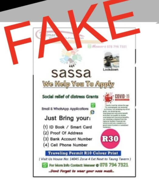 Fake SASSA News South Africa